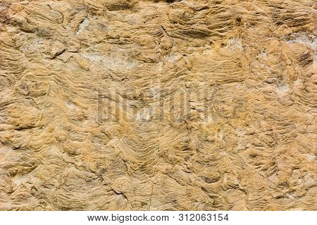 Scenic Weathered Stone Surface With Signs Of Destruction