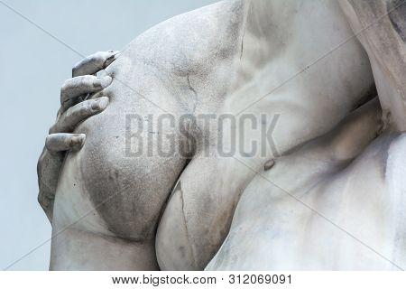 Sculpture The Rape Of The Sabine Women, Loggia Dei Lanzi, Fragment