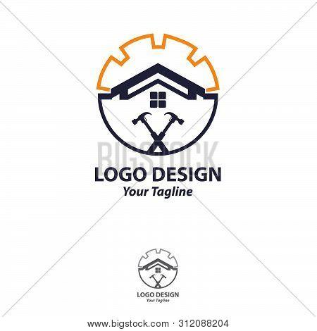 House Repair Logo.tools Icon. Roof Repair Logo. Repairs House Sign. Home Improvement Icon.