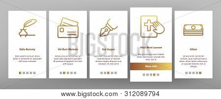 Judgement, Court Process Vector Onboarding Mobile App Page Screen. Judgement, Trial Procedure Linear