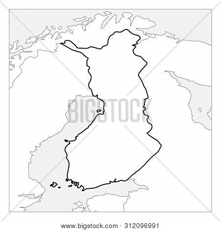Map Finland Black Vector & Photo (Free Trial) | Bigstock