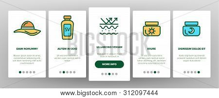 Sunscreen, Uv Defence Vector Onboarding Mobile App Page Screen. Sunscreen, Suntan Rules Illustration