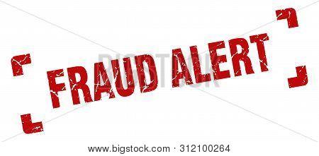 Fraud Alert Stamp. Fraud Alert Square Grunge Sign. Fraud Alert
