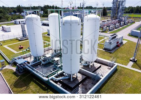 Aerial View Of Liquid Chemical Tank Terminal, Storage Of Liquid Chemical And Petrochemical Products