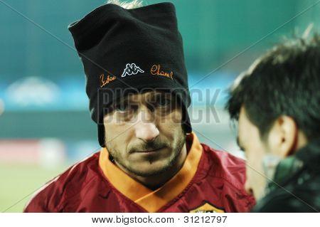 Soccer legend of AS Roma, Francesco Totti