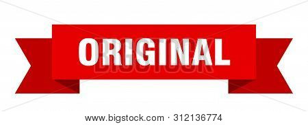 Original Ribbon. Original Isolated Sign. Original Banner