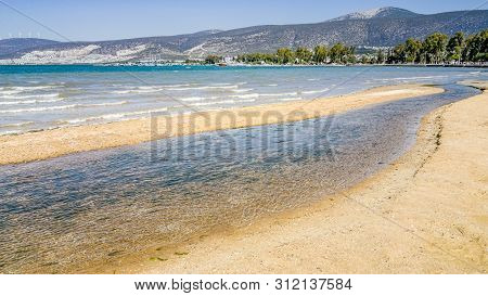 Beautiful View Of The Sea And The Coastline On A Sunny Day In Didim, Turkey.