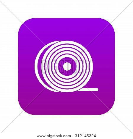 Abs Or Pla Filament Coil Icon Digital Purple For Any Design Isolated On White Vector Illustration