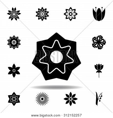 Flower Icon In Trendy Flat Style Isolated. Set Of Flowers Illustration Icons. Signs, Symbols Can Be
