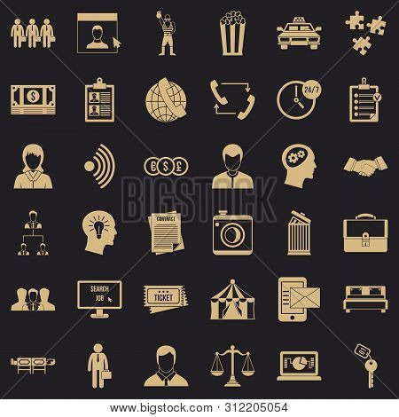 poster of Conformity icons set. Simple style of 36 conformity icons for web for any design