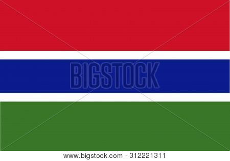 Flag Of The Gambia Vector Illustration Worlds Flags Collection