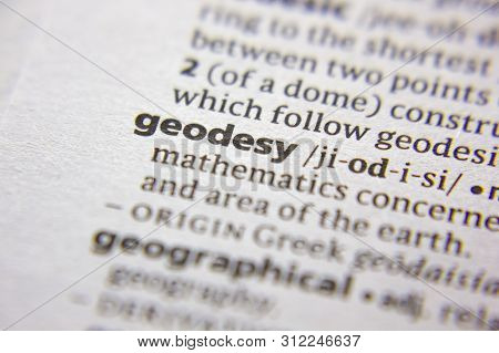 Word Or Phrase Geodesy In A Dictionary