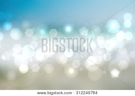 Geometric Polygon Background. Abstract Gradient Silver Blue Background Texture With Geometric Pentag