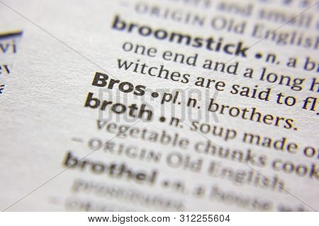 Word Or Phrase Bros In A Dictionary