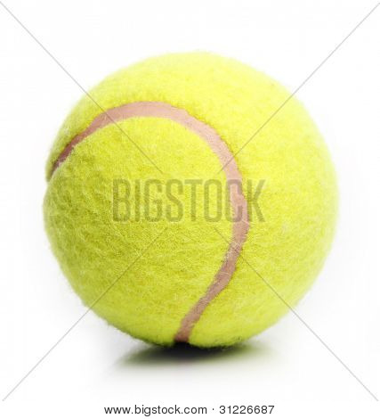 Tenis ball over white background