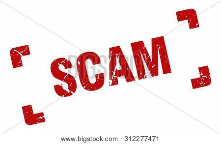 Scam Stamp. Scam Square Grunge Sign. Scam