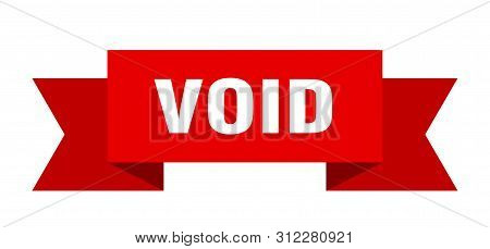 Void Ribbon. Void Isolated Sign. Void Banner