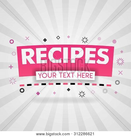 Pink Logo For Recipes Websites. For Recipe Websites, Food Blog, Today Recipes, Buy Food Mobile App,