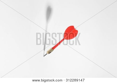 Red Dart Arrow For Game On White Background
