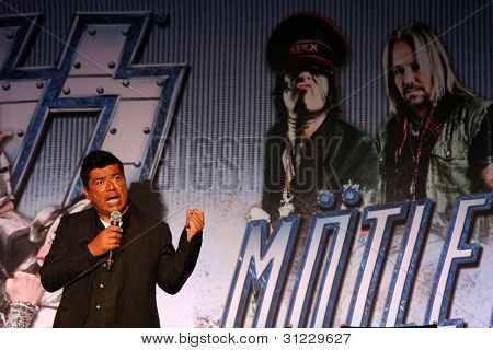 LOS ANGELES - MAR 20:  George Lopez at the Kiss and Motely Crue Tour Press Conference at the Roosevelt Hotel on March 20, 2012 in Los Angeles, CA