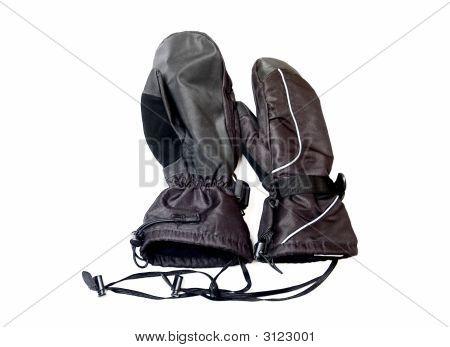 Winter Skidoo Gloves Isolated