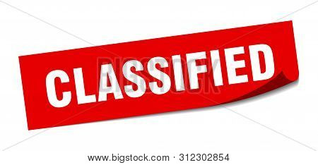 Classified Sticker. Classified Square Isolated Sign. Classified