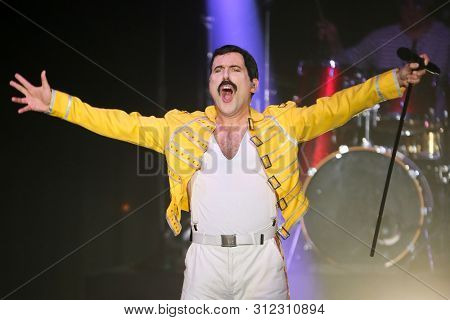 HUNTINGTON, NY - JUL 17: Killer Queen performs in concert at the Paramount on July 17, 2019 in Huntington, New York.
