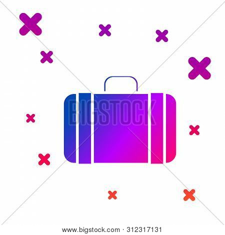 Color Suitcase For Travel Icon Isolated On White Background. Traveling Baggage Sign. Travel Luggage
