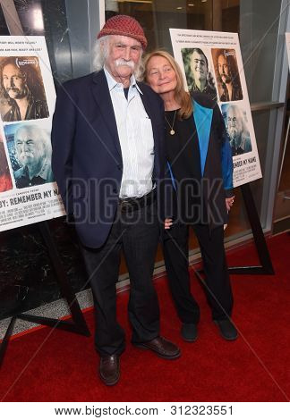 LOS ANGELES - JUL 18:  David Crosby and Jan Dance arrives for the 'David Crosby: Remember My Name' Los Angeles Premiere on July 18, 2019 in Hollywood, CA