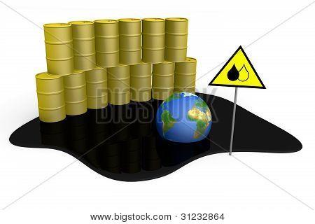Barrels, Spilled Oil