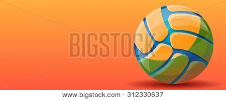 Volleyball Sport Concept Banner. Cartoon Illustration Of Volleyball Sport Vector Concept Banner For