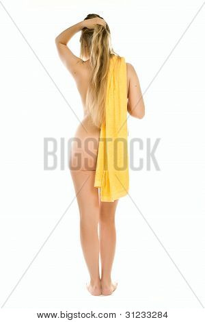 Young Woman With Bath Towel