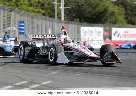July 14, 2019 - Toronto, Ontario, CAN: JOSEF NEWGARDEN (2) of the United States races through the turns during the  race for the Honda Indy Toronto at Streets of Toronto in Toronto, Ontario.
