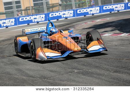 July 14, 2019 - Toronto, Ontario, CAN: SCOTT DIXON (9) of New Zealand races through the turns during the  race for the Honda Indy Toronto at Streets of Toronto in Toronto, Ontario.