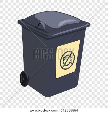 Trashcan Icon. Cartoon Illustration Of Trashcan Vector Icon For Web