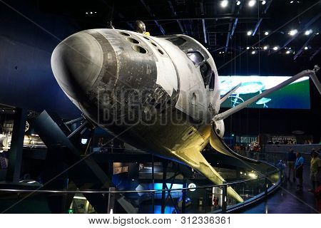 Cape Canaveral, Fl/united States - 02/13/18: Atlantis Space Shuttle On Display For Visitors To View