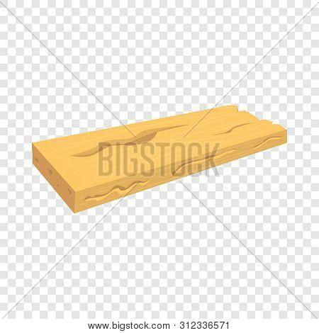 Wood Board Icon. Cartoon Illustration Of Wood Board Vector Icon For Web