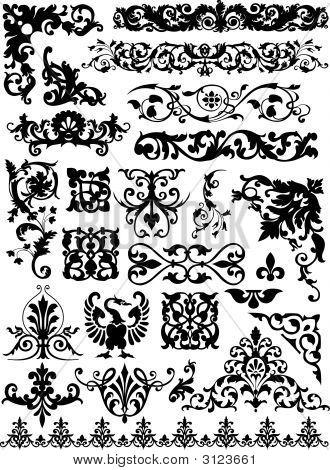 Conjunto de elementos de diseño de la hermosa Vector
