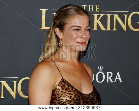 LeAnn Rimes at the World premiere of 'The Lion King' held at the Dolby Theatre in Hollywood, USA on July 9, 2019.