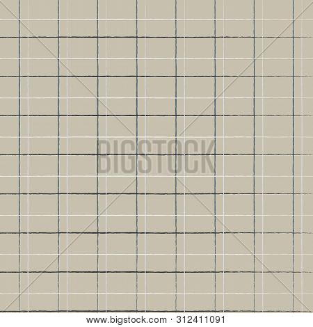 Seamless Geometric Cute Caged Pattern On Burlap Fond. Print For Textile, Fabric Manufacturing, Cover