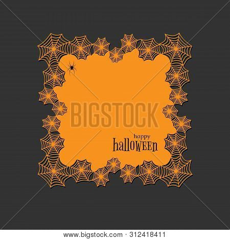 Lace Doily Lasercut Paper Halloween Theme Round Spiderweb And Spider Pattern Banner Square Doily Wit