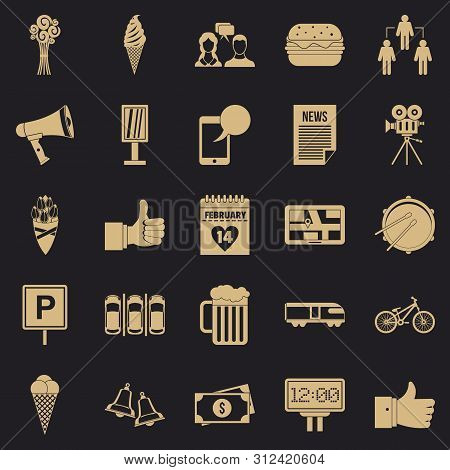 Incident Icons Set. Simple Set Of 25 Incident Icons For Web For Any Design