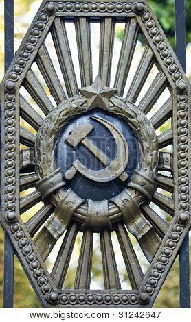 Symbols Of The Soviet Union In The Old Gate