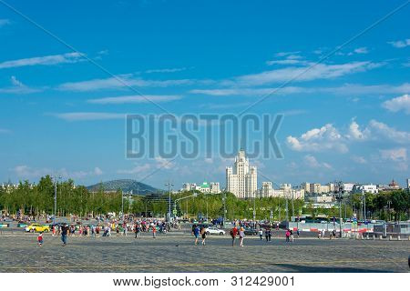 White-stone Moscow On A Summer Day, 06/22/2019, Moscow, Russia.