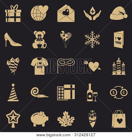 Generosity Icons Set. Simple Set Of 25 Generosity Icons For Web For Any Design