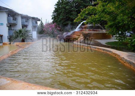 Demre, Turkey - May 21, 2019: Pam Thermal Hotel, Hot Spring Mineral Medicinal Water
