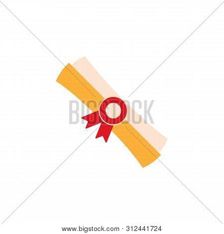 Diploma Colored Icon. Element Of Education Illustration Icon. Premium Quality Graphic Design. Signs