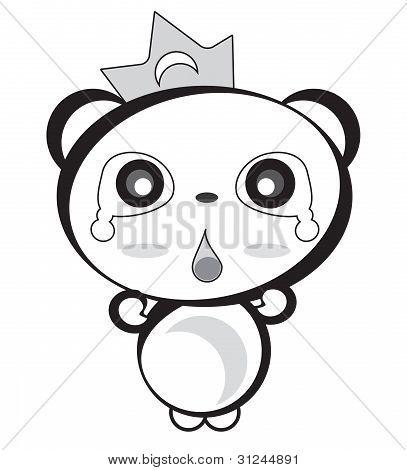 Panda Bw Shocked.eps