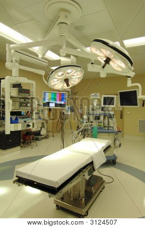 the sterile environment of an operating room poster