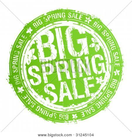 Big spring sale rubber stamp.